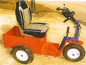 Early PET Prototype with car-like seat